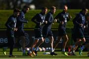 5 October 2017; Republic of Ireland players, from left, Scott Hogan, Shane Duffy, James McCarthy, James McClean, David Meyler and John O'Shea during squad training at the FAI National Training Centre in Abbotstown, Dublin. Photo by Stephen McCarthy/Sportsfile