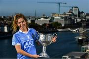 5 October 2017; AIG Insurance, proud sponsor of the Dubs celebrated the Dublin Footballers' and Dublin Ladies Footballers' double All-Ireland victory today by announcing great discounts on travel insurance for Dublin GAA fans. See www.aig.ie/dubs for more. Pictured at the event is Sinéad Finnegan of Dublin with the Brendan Martin Cup. Photo by Sam Barnes/Sportsfile