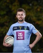 6 October 2017; Wearing this season's new jersey, UCD student and Dublin Footballer Jack McCaffrey is pictured at the announcement of AIB's three year sponsorship renewal of UCD GAA. The long standing sponsorship extends across Gaelic football, hurling ladies Gaelic football, camogie and handball. Photo by David Fitzgerald/Sportsfile
