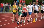 28 July 2012; Dylan Kearns, Killybegs A.C., Co. Donegal, leads the field during the Boy's Under-14 & 15 2,000m Walk event. Woodie's DIY Juvenile Track and Field Championships of Ireland, Tullamore Harriers Stadium, Tullamore, Co. Offaly. Picture credit: Tomas Greally / SPORTSFILE