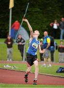 28 July 2012; Daniel Finley, St. Peter's A.C., Co. Louth, in action during the Boy's Under-17 Javelin event. Woodie's DIY Juvenile Track and Field Championships of Ireland, Tullamore Harriers Stadium, Tullamore, Co. Offaly. Picture credit: Tomas Greally / SPORTSFILE