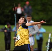 28 July 2012; Shane O'Neill, Abbey Striders A.C., Co. Cork, in action during the Boy's Under-17 Javelin event. Woodie's DIY Juvenile Track and Field Championships of Ireland, Tullamore Harriers Stadium, Tullamore, Co. Offaly. Picture credit: Tomas Greally / SPORTSFILE