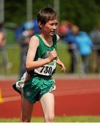 28 July 2012; Dylan Kearns, Killybegs A.C., Co. Donegal, in action during the Boy's Under-14 2,000m Walk event. Woodie's DIY Juvenile Track and Field Championships of Ireland, Tullamore Harriers Stadium, Tullamore, Co. Offaly. Picture credit: Tomas Greally / SPORTSFILE