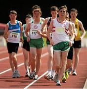 28 July 2012; Simon Gillespie,122, Ballina A.C., Co. Mayo, on his way to winning the Boy's Under-17 3,000m Walk event. Woodie's DIY Juvenile Track and Field Championships of Ireland, Tullamore Harriers Stadium, Tullamore, Co. Offaly. Picture credit: Tomas Greally / SPORTSFILE