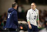 6 October 2017; Republic of Ireland manager Martin O'Neill, left, and assistant manager Roy Keane during the FIFA World Cup Qualifier Group D match between Republic of Ireland and Moldova at Aviva Stadium in Dublin. Photo by Cody Glenn/Sportsfile
