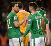 6 October 2017; Sean Maguire, right, and Harry Arter of Republic of Ireland following the FIFA World Cup Qualifier Group D match between Republic of Ireland and Moldova at Aviva Stadium in Dublin. Photo by Cody Glenn/Sportsfile