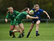 7 October 2017; Anna Doyle of Leinster is tackled by Beibhinn Parson of Connacht during the U18 Girls Interprovincial match between Leinster and Connacht at MU Barnhall RFC in Leixlip, Co Kildare. Photo by Seb Daly/Sportsfile