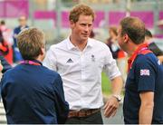 31 July 2012; Prince Harry on his arrival at the Olympic Village. London 2012 Olympic Games, Olympic Park, Stratford, London, England. Picture credit: David Maher / SPORTSFILE