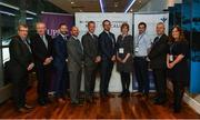 "7 October 2017; Attendees, from left, Ger Ryan, Chairman of the GAA Medical, Scientific and Welfare Committee, Dr. Pat O'Neill, Consultant in Orthopedic and Sports Medicine & former All Ireland winning Dublin Footballer and Manager, Conference moderator Ger Gilroy, Newstalk and ""Off the Ball"", Anthony Kontos, Research Director, UPMC Sports Medicine Concussion Program, Dr. Michael 'Micky' Collins, PHD, Executive Director, UPMC Sports Medicine Concussion Program, Dr. Peter Kinirons, Consultant Neurologist and Clinical Neurophysiologist, Bon Secours Health System, Dr. Anne Mucha, DPT, Clinical Director, Vestibular Therapy, UPMC Sports Medicine Concussion Program, Dr. Brendan Murphy, Former Offaly Senior Hurler, Current Tipperary Hurling Team Doctor, Bill Maher, CEO, Bon Secours Health System, and Aoife McMahon, Physiotherapist, Bon Secours Health System, at the National Concussion Symposium at Croke Park in Dublin. Photo by Piaras Ó Mídheach/Sportsfile"