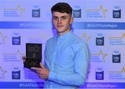 7th October 2017; Electric Ireland present Cork's Sean O'Leary Hayes with his 2017 Electric Ireland GAA Minor Star Award as voted for by a panel of GAA legends which includes Oisin McConville, Andy McEntee, Donal Og Cusack and Mattie Kenny. Sponsor to the GAA Minor Championships, Electric Ireland today honoured 15 minor players from, football and 15 players from hurling at the inaugural annual Electric Ireland Minor Star Awards in Croke Park #GAAThisIsMajor. Photo by Eóin Noonan/Sportsfile
