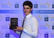 7th October 2017; Electric Ireland present Clare's Aidan McCarthy with his 2017 Electric Ireland GAA Minor Star Award as voted for by a panel of GAA legends which includes Oisin McConville, Andy McEntee, Donal Og Cusack and Mattie Kenny. Sponsor to the GAA Minor Championships, Electric Ireland today honoured 15 minor players from, football and 15 players from hurling at the inaugural annual Electric Ireland Minor Star Awards in Croke Park #GAAThisIsMajor. Photo by Eóin Noonan/Sportsfile