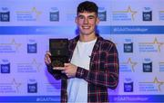 7th October 2017; Electric Ireland present Dublin's Lee Gannon with his 2017 Electric Ireland GAA Minor Star Award as voted for by a panel of GAA legends which includes Oisin McConville, Andy McEntee, Donal Og Cusack and Mattie Kenny. Sponsor to the GAA Minor Championships, Electric Ireland today honoured 15 minor players from, football and 15 players from hurling at the inaugural annual Electric Ireland Minor Star Awards in Croke Park #GAAThisIsMajor. Photo by Eóin Noonan/Sportsfile
