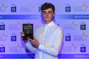 7th October 2017; Electric Ireland present Cork's Daire Connery with his 2017 Electric Ireland GAA Minor Star Award as voted for by a panel of GAA legends which includes Oisin McConville, Andy McEntee, Donal Og Cusack and Mattie Kenny. Sponsor to the GAA Minor Championships, Electric Ireland today honoured 15 minor players from, football and 15 players from hurling at the inaugural annual Electric Ireland Minor Star Awards in Croke Park #GAAThisIsMajor. Photo by Eóin Noonan/Sportsfile