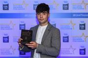 7th October 2017; Electric Ireland present Galway's Conor Fahey with his 2017 Electric Ireland GAA Minor Star Award as voted for by a panel of GAA legends which includes Oisin McConville, Andy McEntee, Donal Og Cusack and Mattie Kenny. Sponsor to the GAA Minor Championships, Electric Ireland today honoured 15 minor players from, football and 15 players from hurling at the inaugural annual Electric Ireland Minor Star Awards in Croke Park #GAAThisIsMajor. Photo by Eóin Noonan/Sportsfile