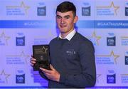 7th October 2017; Electric Ireland present Cork's Brian Roche with his 2017 Electric Ireland GAA Minor Star Award as voted for by a panel of GAA legends which includes Oisin McConville, Andy McEntee, Donal Og Cusack and Mattie Kenny. Sponsor to the GAA Minor Championships, Electric Ireland today honoured 15 minor players from, football and 15 players from hurling at the inaugural annual Electric Ireland Minor Star Awards in Croke Park #GAAThisIsMajor. Photo by Eóin Noonan/Sportsfile