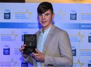 7th October 2017; Electric Ireland present Galway's Jack Canning with his 2017 Electric Ireland GAA Minor Star Award as voted for by a panel of GAA legends which includes Oisin McConville, Andy McEntee, Donal Og Cusack and Mattie Kenny. Sponsor to the GAA Minor Championships, Electric Ireland today honoured 15 minor players from, football and 15 players from hurling at the inaugural annual Electric Ireland Minor Star Awards in Croke Park #GAAThisIsMajor. Photo by Eóin Noonan/Sportsfile