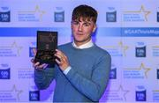 7th October 2017; Electric Ireland present Cavan's Oisin Pierson with his 2017 Electric Ireland GAA Minor Star Award as voted for by a panel of GAA legends which includes Oisin McConville, Andy McEntee, Donal Og Cusack and Mattie Kenny. Sponsor to the GAA Minor Championships, Electric Ireland today honoured 15 minor players from, football and 15 players from hurling at the inaugural annual Electric Ireland Minor Star Awards in Croke Park #GAAThisIsMajor. Photo by Eóin Noonan/Sportsfile