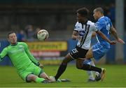 7 October 2017; Carlton Ubaezuonu of Dundalk has his shot saved by Ciaran Gallagher of Finn Harps during the SSE Airtricity League Premier Division match between Finn Harps and Dundalk at Finn Park in Ballybofey, Co Donegal. Photo by Oliver McVeigh/Sportsfile