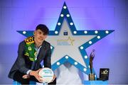 7 October 2017; Electric Ireland presents Kerry's David Clifford with the 2017 Electric Ireland Footballer of the Year award as voted for by a panel of GAA legends which includes Oisin McConville, Andy McEntee, Donal Og Cusack and Mattie Kenny. Sponsor to the GAA Minor Championships, Electric Ireland today honoured 15 minor players from, football and 15 players from hurling at the inaugural annual Electric Ireland Minor Star Awards in Croke Park #GAAThisIsMajor. Photo by Sam Barnes/Sportsfile