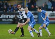 7 October 2017; Robbie Benson of Dundalk in action against Tommy McBride of Finn Harps during the SSE Airtricity League Premier Division match between Finn Harps and Dundalk at Finn Park in Ballybofey, Co Donegal. Photo by Oliver McVeigh/Sportsfile