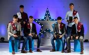 7 October 2017; Electric Ireland present the Galway representatives of the Minor Hurling Team of the Year, from left, Jack Canning, Darach Fahy, Darren Morrissey, Conor Fahey, Sean Bleahane and Caimin Killeen, with their 2017 Electric Ireland GAA Minor Star Awards as voted for by a panel of GAA legends which includes Oisin McConville, Andy McEntee, Donal Og Cusack and Mattie Kenny. Sponsor to the GAA Minor Championships, Electric Ireland today honoured 15 minor players from, football and 15 players from hurling at the inaugural annual Electric Ireland Minor Star Awards in Croke Park #GAAThisIsMajor. Photo by Sam Barnes/Sportsfile
