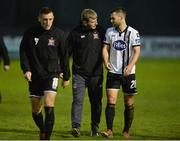 7 October 2017; Dundalk Manager Stephen Kenny and Thomas Stewart of Dundalk after the SSE Airtricity League Premier Division match between Finn Harps and Dundalk at Finn Park in Ballybofey, Co Donegal. Photo by Oliver McVeigh/Sportsfile