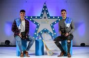7 October 2017; Electric Ireland present the Dublin representatives of the Minor Hurling Team of the Year, Lee Gannon, left, and Sean Currie, with their 2017 Electric Ireland GAA Minor Star Awards as voted for by a panel of GAA legends which includes Oisin McConville, Andy McEntee, Donal Og Cusack and Mattie Kenny. Sponsor to the GAA Minor Championships, Electric Ireland today honoured 15 minor players from, football and 15 players from hurling at the inaugural annual Electric Ireland Minor Star Awards in Croke Park #GAAThisIsMajor Photo by Sam Barnes/Sportsfile