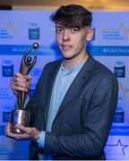 7 October 2017; Electric Ireland present Kerry's David Clifford with the 2017 Electric Ireland Footballer of the Year award as voted for by a panel of GAA legends which includes Oisin McConville, Andy McEntee, Donal Og Cusack and Mattie Kenny. Sponsor to the GAA Minor Championships, Electric Ireland today honoured 15 minor players from, football and 15 players from hurling at the inaugural annual Electric Ireland Minor Star Awards in Croke Park #GAAThisIsMajor. Photo by Eóin Noonan/Sportsfile