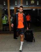7 October 2017; Munster's Conor Murray arrives ahead of the Guinness PRO14 Round 6 match between Leinster and Munster at the Aviva Stadium in Dublin. Photo by Ramsey Cardy/Sportsfile