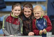 8 October 2017; Borris-Ileigh supporters from left Ciara Maher, age 9, Therese Groome age 10 and Maria Groome age 6, before the Tipperary County Senior Hurling Championship Final match between Thurles Sarsfields and Borris-Ileigh at Semple Stadium in Thurles, Co Tipperary. Photo by Matt Browne/Sportsfile