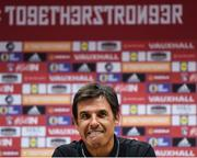 8 October 2017; Wales manager Chris Coleman during a press conference at Cardiff City Stadium in Cardiff, Wales. Photo by Stephen McCarthy/Sportsfile