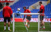8 October 2017; Joe Allen of Wales during squad training at Cardiff City Stadium in Cardiff, Wales. Photo by Stephen McCarthy/Sportsfile