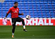 8 October 2017; Hal Robson-Kanu of Wales during squad training at Cardiff City Stadium in Cardiff, Wales. Photo by Stephen McCarthy/Sportsfile