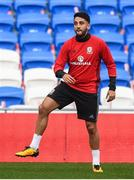 8 October 2017; Neil Taylor of Wales during squad training at Cardiff City Stadium in Cardiff, Wales. Photo by Stephen McCarthy/Sportsfile