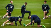 8 October 2017; Republic of Ireland U21 players, from left, Ronan Curtis, Rory Hale and Danny Kane during squad training at Tallaght Stadium in Dublin. Photo by David Fitzgerald/Sportsfile
