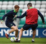 8 October 2017; Ronan Connor Republic of Ireland U21 during squad training at Tallaght Stadium in Dublin. Photo by David Fitzgerald/Sportsfile