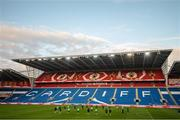 8 October 2017; Republic of Ireland's players during squad training at Cardiff City Stadium in Cardiff, Wales. Photo by Stephen McCarthy/Sportsfile