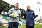 8 October 2017; Republic of Ireland U21 goalkeeping coach Dan Connor and coach Harry McHugh during squad training at Tallaght Stadium in Dublin. Photo by David Fitzgerald/Sportsfile