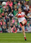 8 October 2017; Ciara McGurk of Derry during the TG4 Ladies Football All-Ireland Junior Championship Final Replay between Derry and Fermanagh at St Tiernach's Park in Clones, Co Monaghan. Photo by Oliver McVeigh/Sportsfile