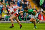 8 October 2017; Annie Crozier of Derry in action against Aine McGovern of Fermanagh during the TG4 Ladies Football All-Ireland Junior Championship Final Replay between Derry and Fermanagh at St Tiernach's Park in Clones, Co Monaghan. Photo by Oliver McVeigh/Sportsfile