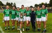 8 October 2017; The Kinawley players from the Fermanagh squad celebrate after the TG4 Ladies Football All-Ireland Junior Championship Final Replay between Derry and Fermanagh at St Tiernach's Park in Clones, Co Monaghan. Photo by Oliver McVeigh/Sportsfile