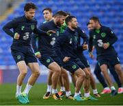 8 October 2017; Republic of Ireland's Harry Arter during squad training at Cardiff City Stadium in Cardiff, Wales. Photo by Stephen McCarthy/Sportsfile