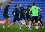 8 October 2017; Republic of Ireland's Shane Long during squad training at Cardiff City Stadium in Cardiff, Wales. Photo by Stephen McCarthy/Sportsfile
