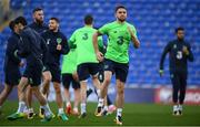 8 October 2017; Republic of Ireland's Robbie Brady during squad training at Cardiff City Stadium in Cardiff, Wales. Photo by Stephen McCarthy/Sportsfile