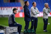 8 October 2017; Republic of Ireland's Seamus Coleman during squad training at Cardiff City Stadium in Cardiff, Wales. Photo by Stephen McCarthy/Sportsfile
