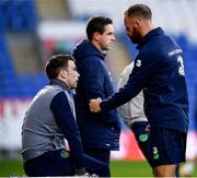 8 October 2017; Republic of Ireland's Seamus Coleman and David Meyler during squad training at Cardiff City Stadium in Cardiff, Wales. Photo by Stephen McCarthy/Sportsfile