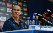 9 October 2017; Leinster senior coach Stuart Lancaster during a press conference at Leinster Rugby HQ in UCD, Belfield, Dublin. Photo by Piaras Ó Mídheach/Sportsfile