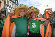 9 October 2017; Republic of Ireland supporters Ollie Cunningham, left, from Killybegs, and Frankie Murrin, from Kilcar, both Co Donegal, in Cardiff prior to the FIFA World Cup Qualifier Group D match between Wales and Republic of Ireland at Cardiff City Stadium in Cardiff, Wales. Photo by Stephen McCarthy/Sportsfile
