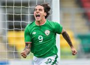 9 October 2017; Reece Grego-Cox of Republic of Ireland celebrates after scoring his side's first goal against Israel during the UEFA European U21 Championship Qualifier match between Republic of Ireland and Israel at Tallaght Stadium in Dublin. Photo by Matt Browne/Sportsfile