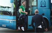 9 October 2017; Shane Duffy of Republic of Ireland arrives prior to the FIFA World Cup Qualifier Group D match between Wales and Republic of Ireland at Cardiff City Stadium in Cardiff, Wales. Photo by Stephen McCarthy/Sportsfile